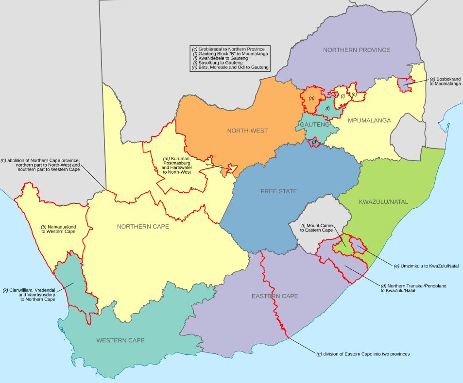 The Provinces of South Africa